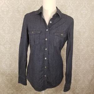 J. Crew Longsleeve Button Down Denim Top